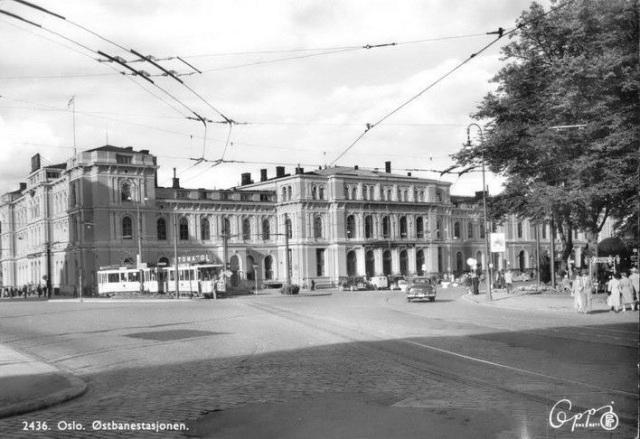 Østbanestasjonen i Oslo i 1950-årene
